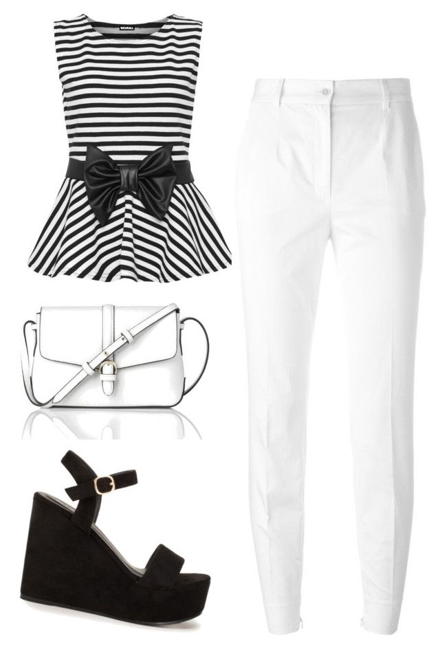 """Outfit juvenil"" by turbopeka on Polyvore featuring moda, WearAll, Dolce&Gabbana, Nly Shoes y L.K.Bennett"