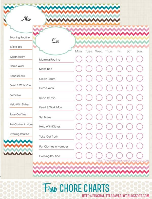 35 best Free Chore Charts for Kids images on Pinterest Free - kids chart