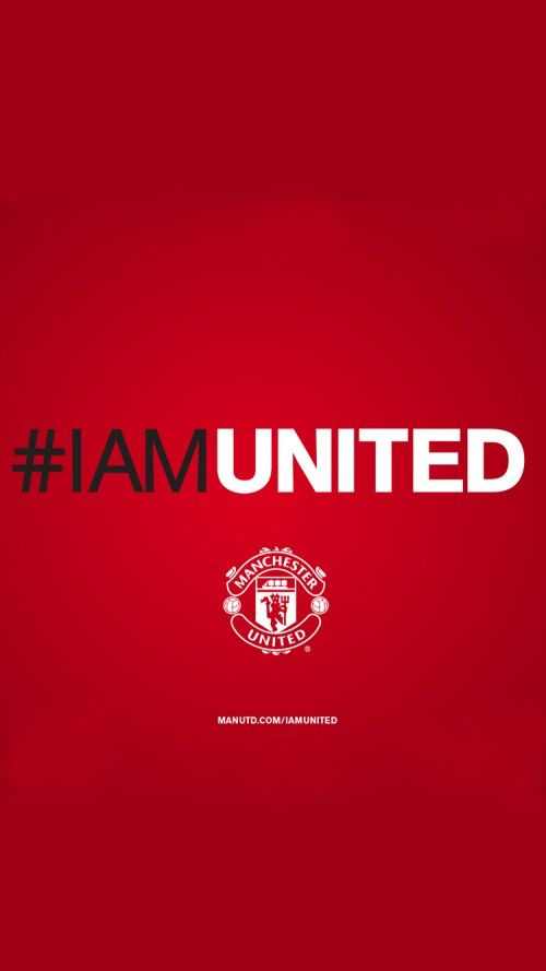 File attachment for iPhone 6 HD Man United background #IAmUnited with 750x1334 pixels