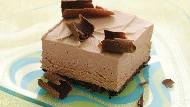 Παγωμένο σοκολατένιο γλύκισμα με ζαχαρούχο γάλα χωρίς ψήσιμο, από το…