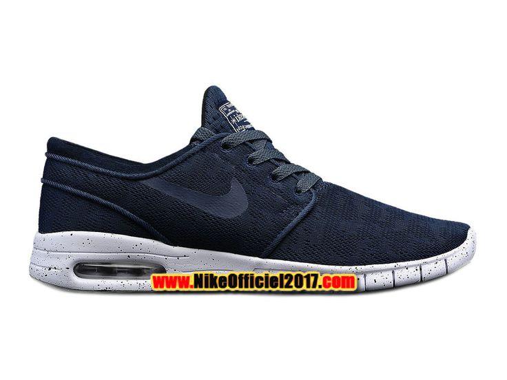 Nike SB Stefan Janoski Max Chaussure Nike Skateboard Pas Cher Pour Homme Midnight Navy 631303-441