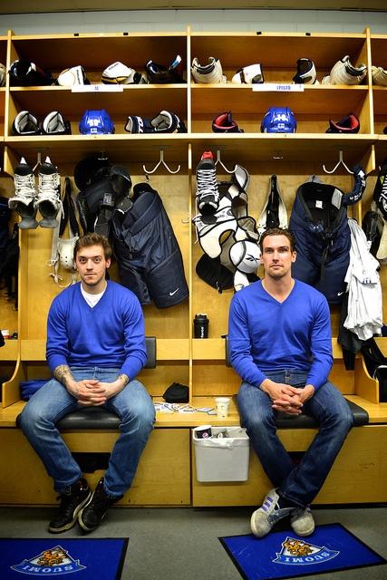 Those two, Juhamatti Aaltonen and Sami Lepistö, good looking and great athletes.