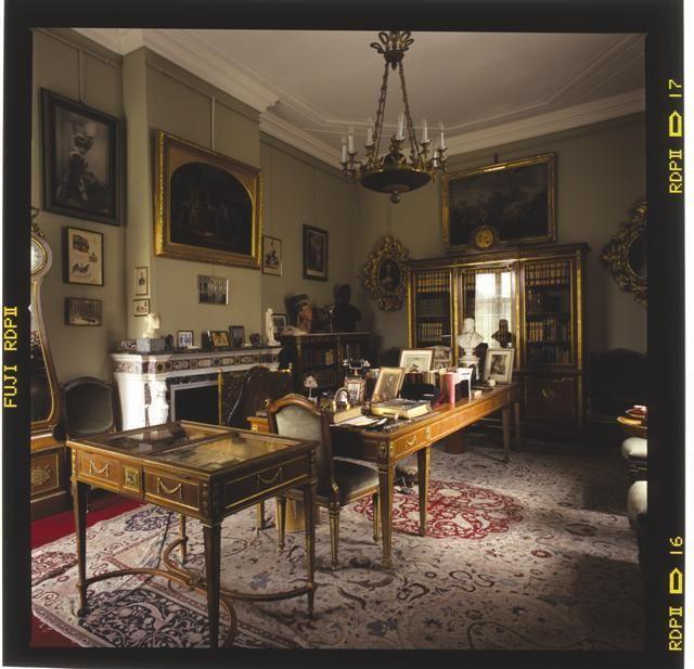 De bibliotheek van de keizer in Huis Doorn