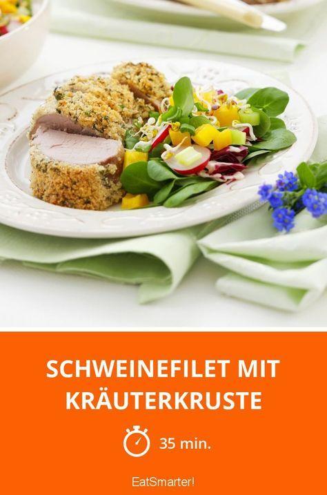 Schweinefilet mit Kräuterkruste - smarter - Zeit: 35 Min. | eatsmarter.de