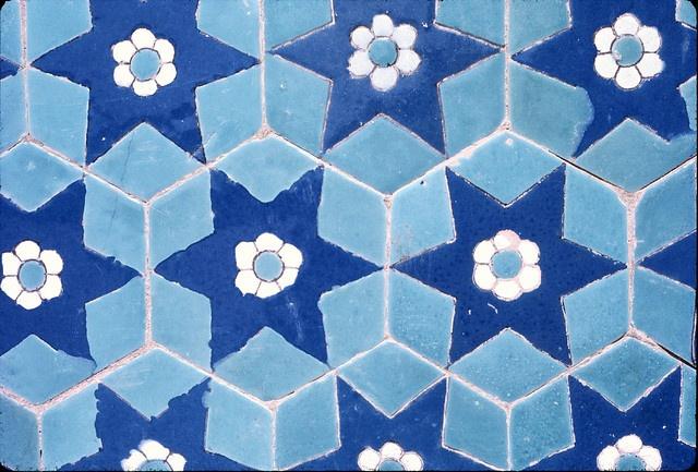 tiles Blue Mosque Mazar-i-sharif by Wendy Tanner, via Flickr
