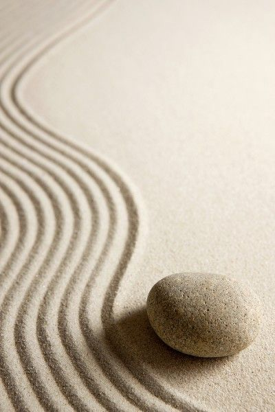 Zen garden...want one in my studio.must include river stones,  sand and giant all wood rake