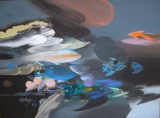 Alejandro Obreón Vientos (1990) acrílico sobre lienzo 60 x 80 centímetros