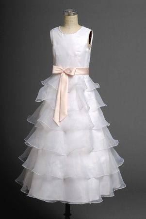 Wholesale Cheap 2014 Sassy Layered Organza Hot Sale Actual First Communion Dress (AFCD-037)