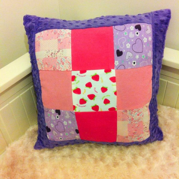Patchwork memory cushion with dimple backing £18 plus p+p