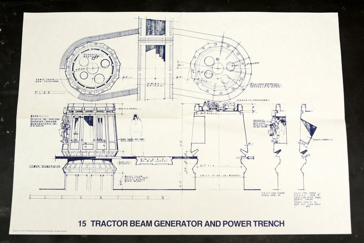 Vintage Star Wars Blueprint for Tractor Beam Generator and Power Trench by Third Shift on Etsy