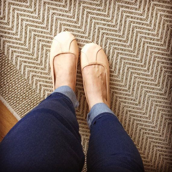 ISLANDER- Ballet Flats - Leather Shoes - 39- NUDE. Available in different colours & sizes