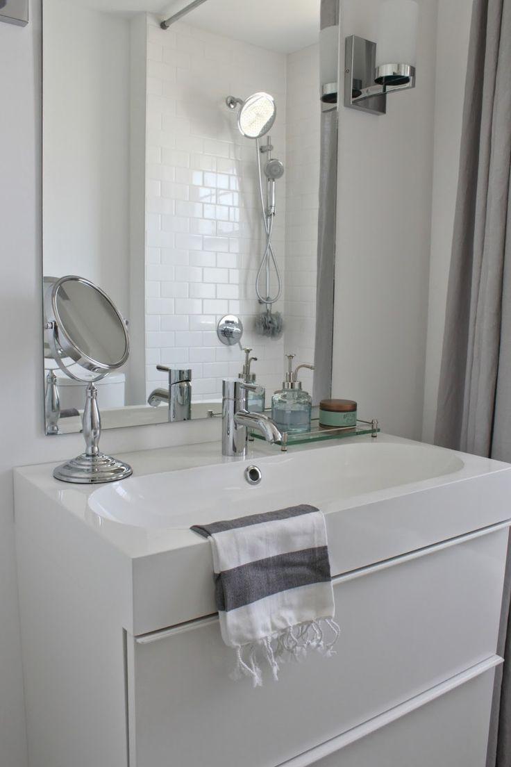 Virtu usa hazel 56 inch single sink bathroom vanity set free - Marble Hexagon And White Subway Tile
