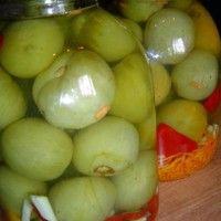 Зеленые помидоры консервированные