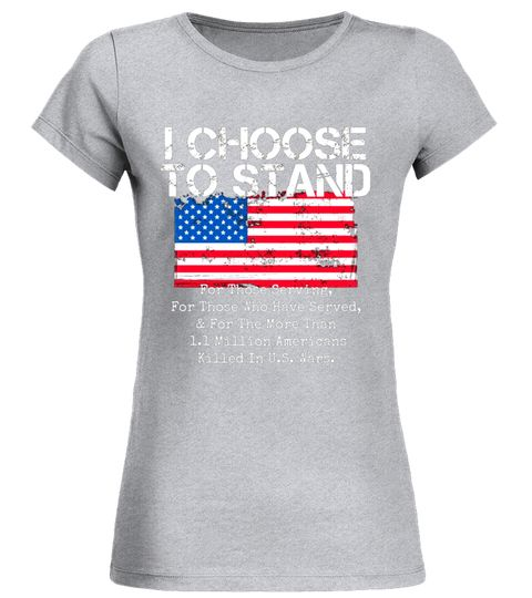 Patriotic Flag T-Shirt I Choose to Stand American Flag Shirt veteran T-shirt
