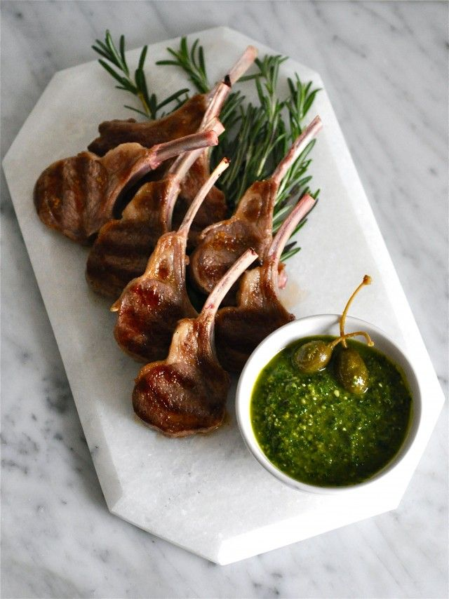 Grilled Lamb Chops with Salsa Verde by kitchenculinaire #Lamb