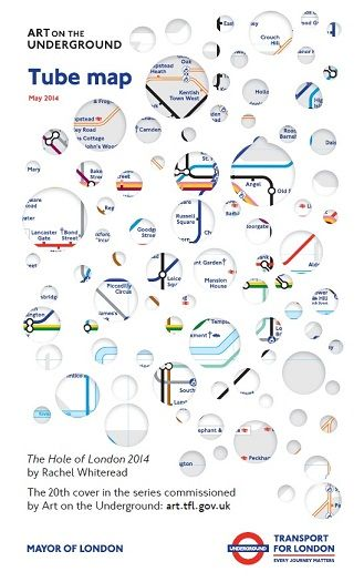 The Hole of London 2014 by Rachel Whiteread. The 20th cover in the series commissioned by Art on the Underground.