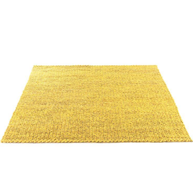 Loop tapijt geel