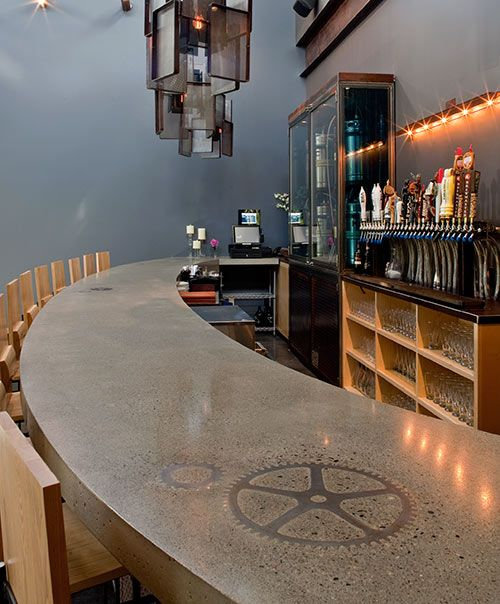 Artisan: Custom Concrete Design, Location: When Pigs Fly, Kittery, Maine