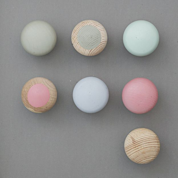 Maybe a variety of painted knobs in these yummy candy colors for that lingerie dresser that Ilana gave me