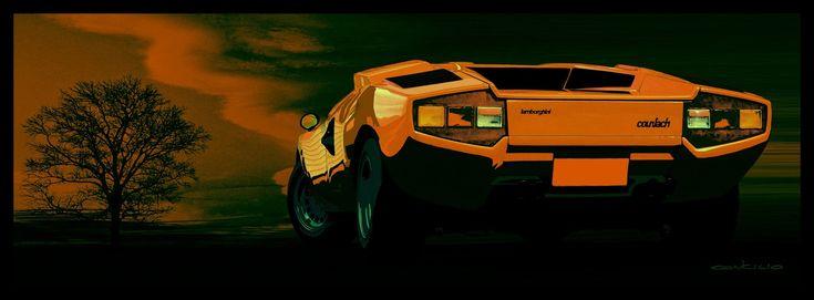 STORMWHEELS: Lamborghini COUNTACH LP 400 - Illustrazione di Gia...