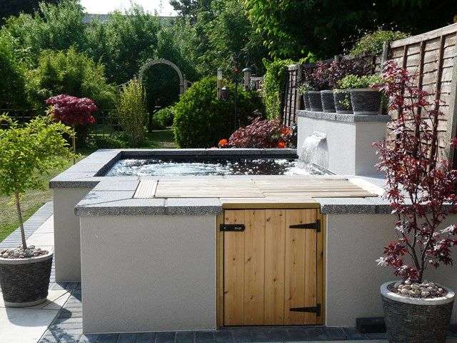 17 best backyard ponds images on pinterest water for Above ground fish pond filters