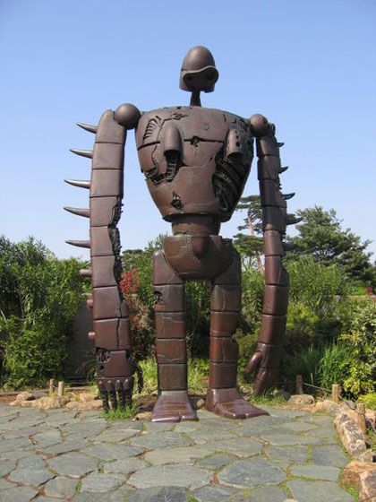 Castle in Sky Robot at Ghibli Museum.  Want to go.