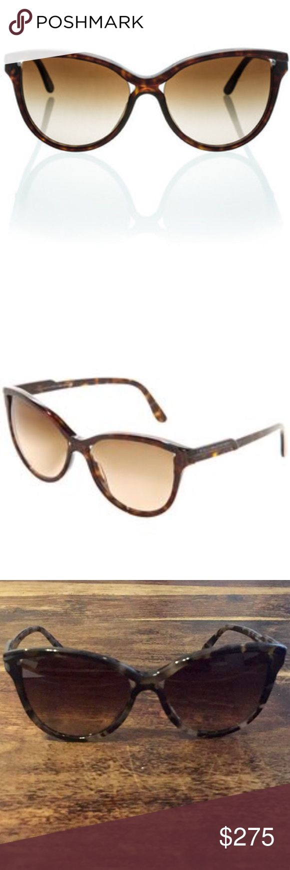 Stella McCartney Tortoise Cat Eye Sunglasses 🕶 Stella McCartney Sunglasses SM4038 Cat Eye Dark Brown Tortoise frames 58mm 18mm 145mm Acetate, lens-Nylon, Brown  100% authentic. Brown Gradient Lenses. 100% UVA + UVB Protection. Handmade in Italy $345 Retail Stella McCartney Accessories Sunglasses