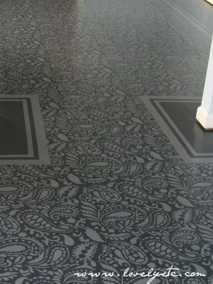 Painted plywood floors
