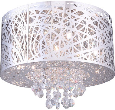 Illuminate any room with this stunning Helix Collection Flushmount Wall Light Fixture.