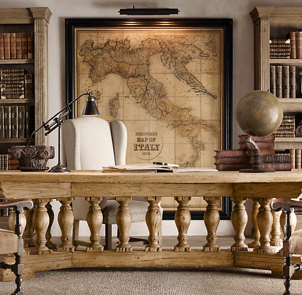 want that map.  Fence dividing living room from office - clever!