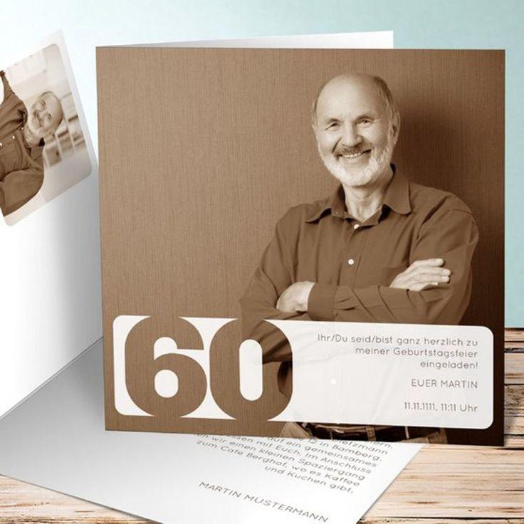 die besten 25 einladung zum 60 geburtstag ideen auf pinterest. Black Bedroom Furniture Sets. Home Design Ideas