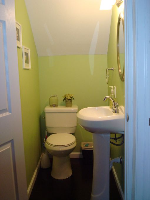 tiny half bath from old dirty closet to half bath bathrooms design - Small Bathroom Decor Ideas 2