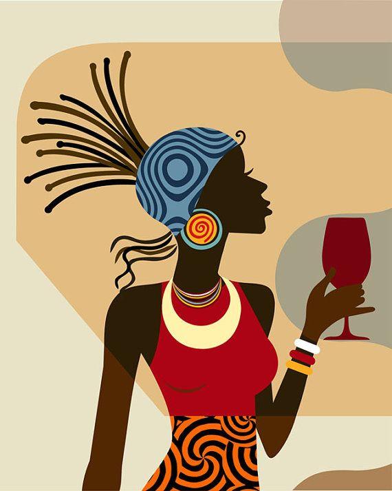 Captivating Afrocentric Decor, Black Woman Painting, African American Art, African Wall  Art, African Woman, African Painting, African Decor, Afro Art Awesome Ideas