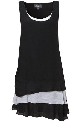 Black Layered Bottom Tunic on Womens Clothing. hum I can do that