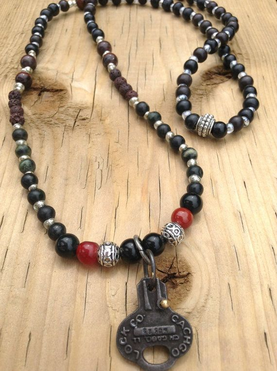 Bohemian Aromatherapy Jewelry & Accessories. One of a kind natural lava rock and gemstone boho diffuser necklaces.  www.bysandandstones.com