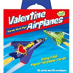 Peaceable Kingdom Flying Paper Airplanes Super Valentine Card Pack