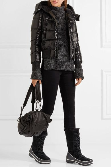 Sorel - Tivoli High Ii Waterproof Suede And Leather Boots - Black - US10.5