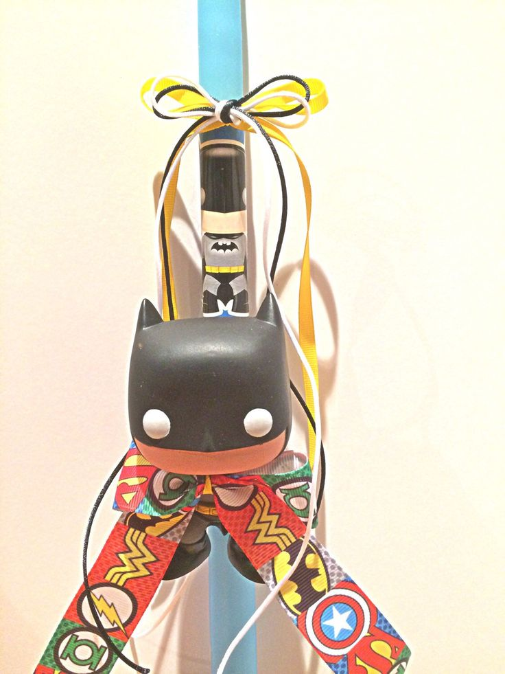 A personal favorite from my Etsy shop https://www.etsy.com/listing/128447885/bat-man-pop-heroes-easter-candle