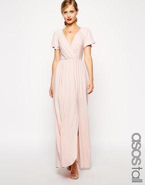 ASOS TALL - Maxi robe à manches évasées