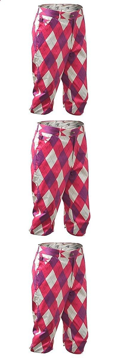 Socks 181140: Royal And Awesome Back To The Fuchsia Mens Golf Knickers 36 BUY IT NOW ONLY: $93.61