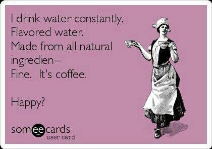 Fine, it's coffee