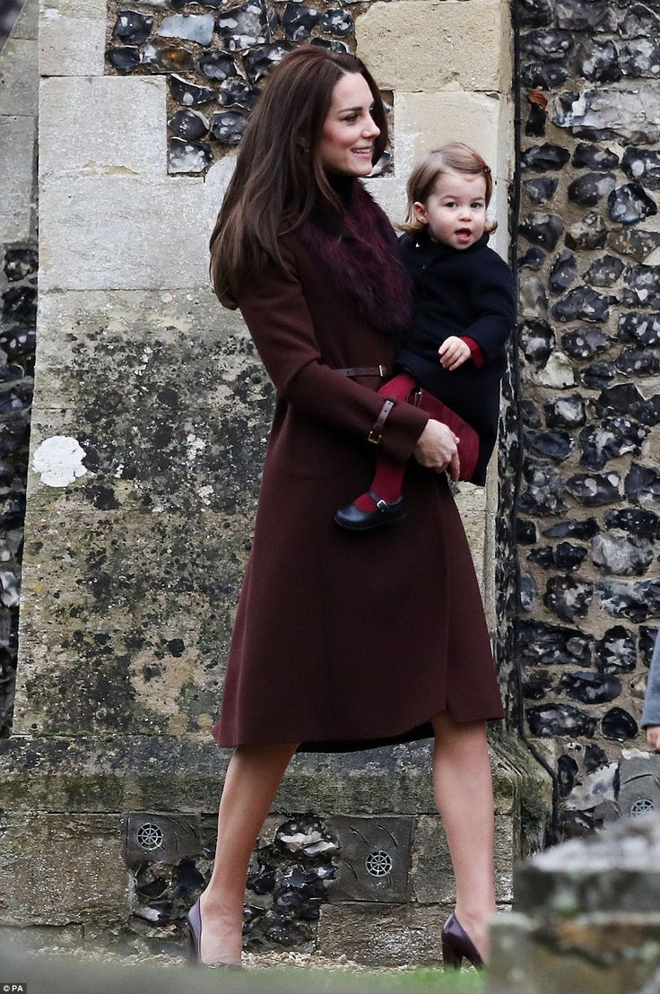 One-year-old Princess Charlotte was making funny faces at the cameras as her mother took h...