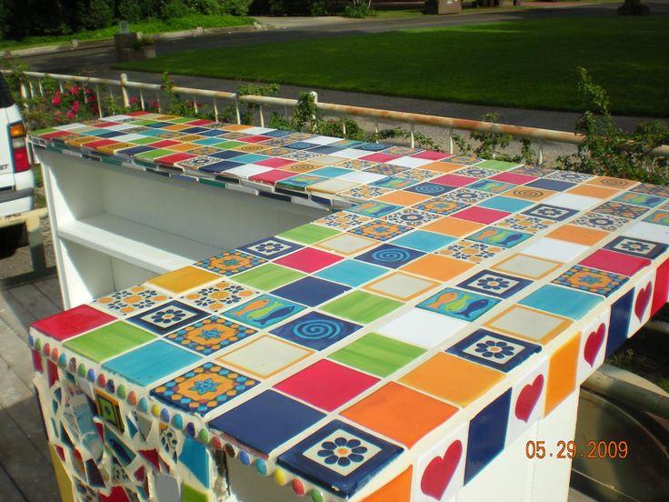 Mosaic countertop