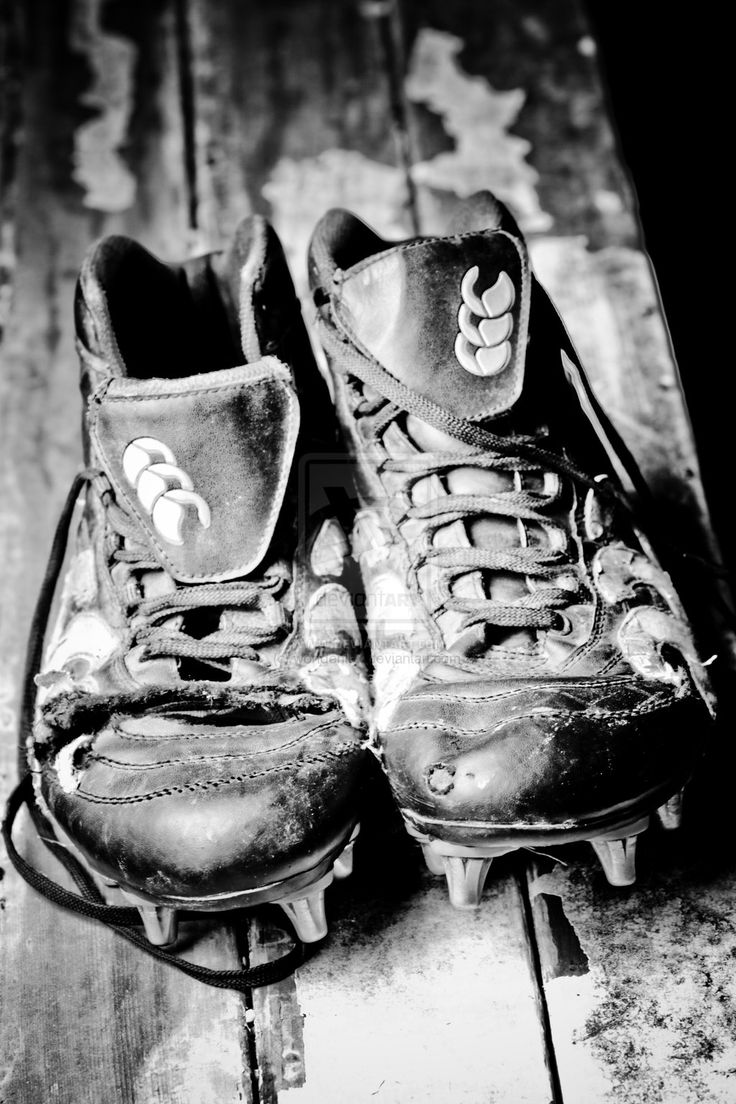 My rugby boots from last season - available for sale as a print.