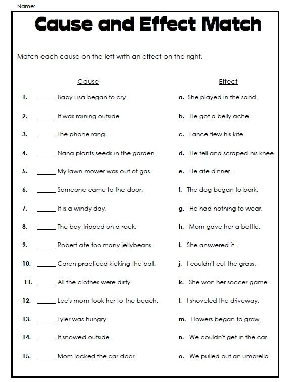 Worksheets Cause And Effect Worksheet 4th Grade 25 best ideas about cause and effect on pinterest super teacher worksheets has printable check out this worksheet where students