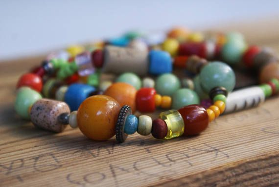 Colorful beaded necklace, don't miss it!