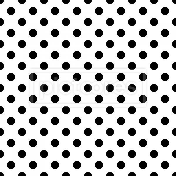 seamless pattern with black dots over white