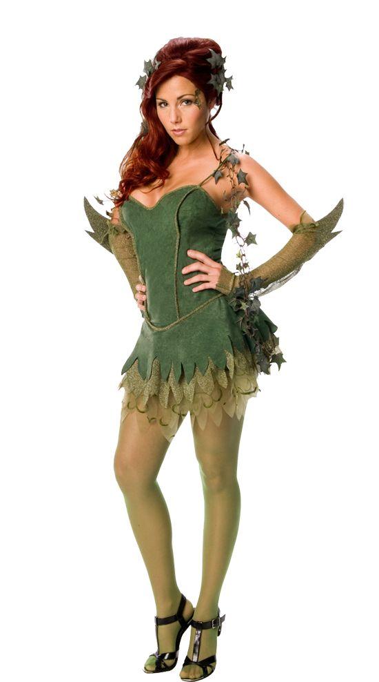 Ladies Sexy Poison Ivy Superhero Batman Fancy Dress Costume Halloween Outfit | eBay