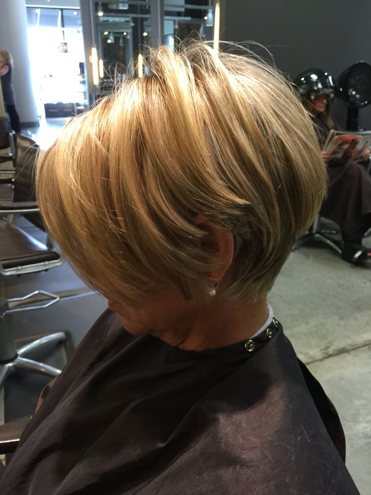 Short hairs.........my hair is belt length now, but if it would look like this cut, I would cut mine in a heartbeat !