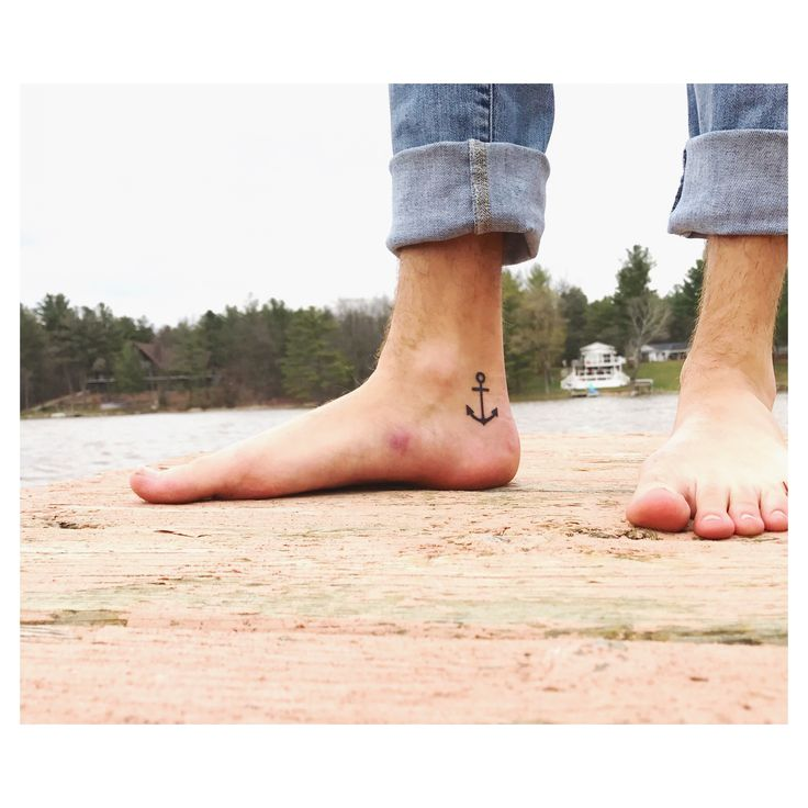 Anchor foot tattoo
